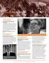 events calendar - Goucher College