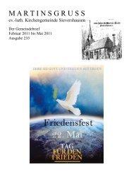 Martinsgruss Nr. 233 (pdf-Datei, 371.03 kB) - Kirchenkreis Burgdorf