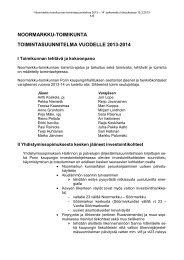 Toimintasuunnitelma 2013-2014 - Pori