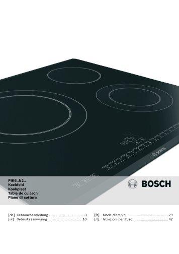 PIK6..N2.. Kochfeld Kookplaat Table de cuisson Piano di cottura