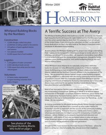 Winter 2009 Issue - Atlanta Habitat for Humanity