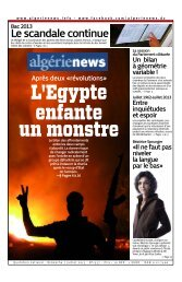 Fr-07-07-2013 - Algérie news quotidien national d'information