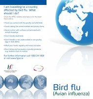 Bird Flu Information leaflet