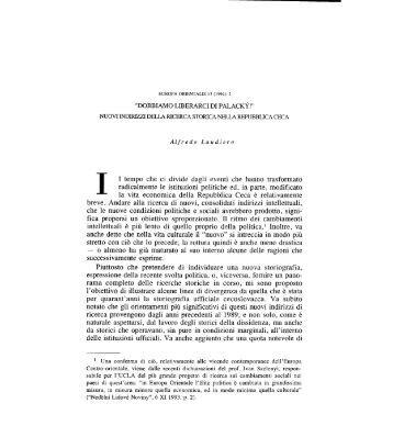 Nuovi indirizzi della ricerca storica nella ... - Europaorientalis.it