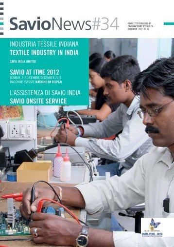 INDUSTRIA TESSILE INDIANA TexTile indusTry in india - Savio SPA