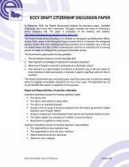 eccv citizenship discussion paper - Ethnic Communities Council of ...
