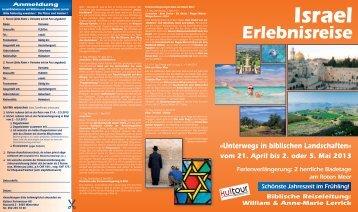 «Unterwegs in biblischen Landschaften» - KulTOUR Ferienreisen