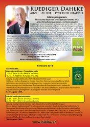 Autor - Psychotherapeut www.dahlke.at Jahresprogramm