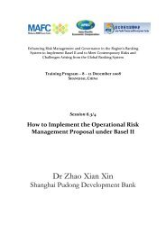 6.3 How to Implement the Operational Risk Management Proposal ...