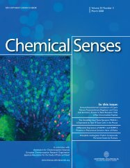 Front Matter (PDF) - Chemical Senses - Oxford Journals