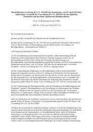 Verordnung EU Nr. 354-2013 über Änderungen von zugelassenen ...