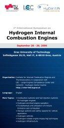 Hydrogen Internal Combustion Engines - HyCentA - Graz University ...