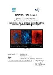 Sensibilité de la chimie interstellaire à certains paramètres physiques