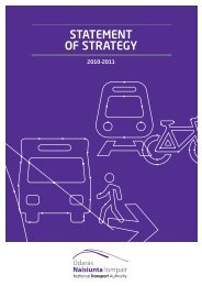 Statement of Strategy 2010 – 2011 - National Transport Authority