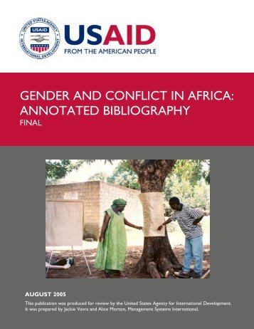Gender and Conflict in Africa - Livestock Emergency Guidelines and ...