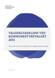 Valgdeltagelsen Ved kommunestyreValget 2011 - Institutt for ...
