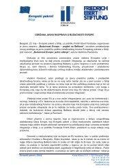 """24.05.2012. Izveštaj: """"Budućnost Evrope – pogled sa Balkana ..."""