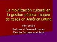 La cultura como recurso en la gestión pública - Territorio Chile
