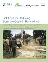 Solutions for Reducing Borehole Costs in Rural Africa - International ...