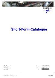 Catalogue 2008 - TimeTech GmbH