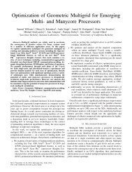 Optimization of Geometric Multigrid for Emerging Multi- and ...