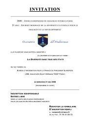 INVITATION & PROGRAMME JOURNEE DE LA DIVERSITE