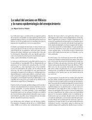 La salud del anciano en México y la nueva epidemiología del ...