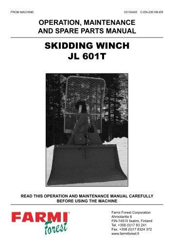 SKIDDING WINCH JL 601T - Farmi Forest
