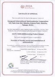 ISO/TS 16949 - TSMC