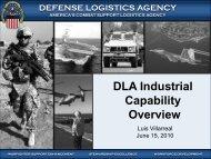 DLA's Industrial Base