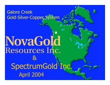 Galore Creek - Minerals North