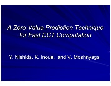 A Zero-Value Prediction Technique for Fast DCT Computation