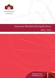 Associate Membership Application 2013 - 2014 - Leading Age ...
