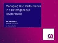 Managing DB2 Performance in a Heterogeneous ... - neodbug