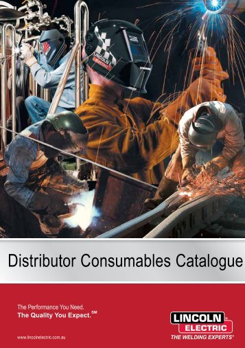 Distributor Consumables Catalogue - Lincoln Electric