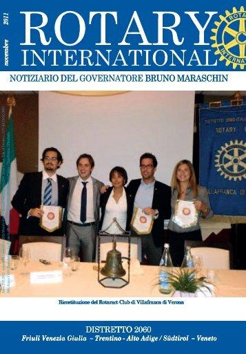 Notiziario novembre 2011 - Rotary International Distretto 2060