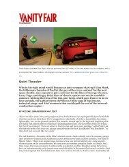 Tesla Motors Featured: Quiet Thunder - Technology Partners
