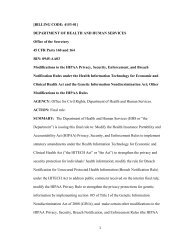 HHS Final Regulations Modifying the HIPAA Privacy, Security ...