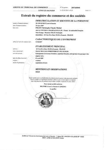 Emoluments Specifiques Du Registre Du Commerce Canton De