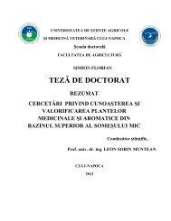 TEZĂ DE DOCTORAT - USAMV Cluj-Napoca