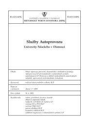 B3-03/5-MPK - Univerzita Palackého v Olomouci