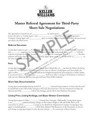 Master Referral Agreement for Third-Party Short Sale Negotiations