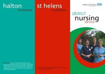 District Nursing design 2.cdr - Halton and St Helens PCT