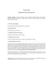 Procès-Verbal Réunion du COGE du 19 mars 2013 Étaient présents ...