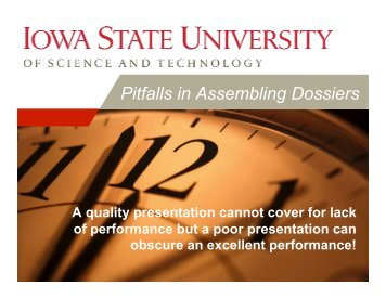 Pitfalls in Assembling Dossiers 2009.pptx