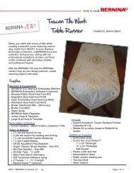 Tuscan Tile Work Table Runner - Bernina
