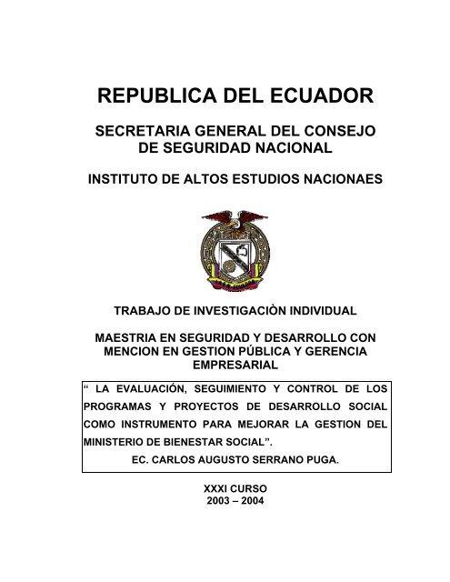 Tesis Carlos Serrano Pdf Repositorio Digital Iaen
