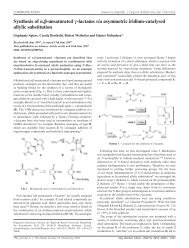 Synthesis of α,β-unsaturated γ-lactams via asymmetric iridium ...