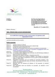 Statut du directeur - Accueil fédération - SeGEC