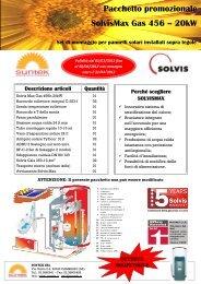 Pacchetto promozionale SolvisMax Gas 456 – 20kW - Suntek Srl